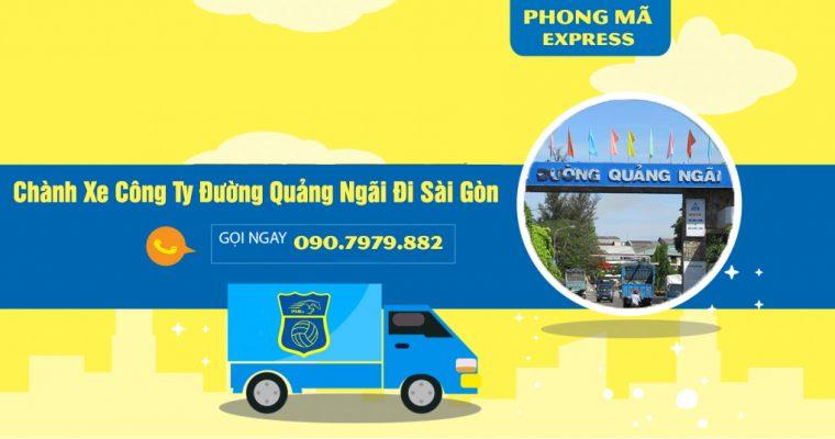 Chành Xe Công Ty Đường Quảng Ngãi Đi Sài Gòn